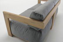 καναπές ξυλινος