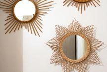 VINTAGE MIRRORS / La grosse tendance de cette saison les miroirs ronds, les miroirs soleil... Pour une deco parfaite