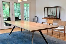 Dining Tables / Dining Tables, Kitchen Tables made from live edge, quartz, phenolic resin, walnut, pecan, oak, steel