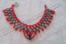 Kristal Boncuk Kolye Yapımı--Crystal bead necklace construction
