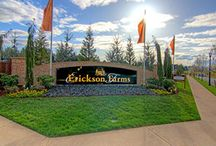 Erickson Farms / Erickson Farms is an upscale community in the heart of Felida and the location of the very successful 2014 Parade of Homes. Erickson Farms is being built in several phases and includes homes priced from the $400,000's to $1 million. Also available are new luxury gated townhomes.  Visit our model home at 10510 NW 33rd Avenue, Vancouver, WA 98685