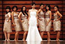 wedding: maids and men