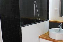 Salle de bain pare douche