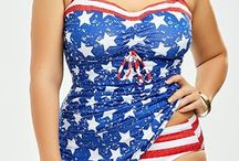 American Flag In Women Dresses