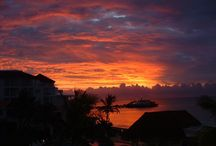 Fiery sunrises of the mexican caribbean