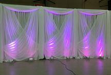 Wedding Backdrop Rentals / Custom & Elegant Backdrops - Send us your photos - we'll recreate.  Call Today.