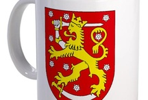Coat of Arms Mugs / Family Crest Mugs / Ceramic Coffee Mugs featuring your family coat of arms / family crest.  Most of these mugs are either 9 oz. 11oz or 15oz mugs.  We start with a blazon (verbal description in latin).  We then convert the blazon to a digital graphic.  This graphic is then applied to the ceramic coffee cup via a process called dye sublimation.  The result is a high quality full color image on the cup. / by Coat of Arms Store - WWW.4CRESTS.COM