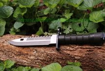 Man Toys - Survival Knives/Machetes/Axes / Camping, outdoor and survival blades guys like to play with. Any man will love the items on this list as a present for birthdays, Christmas, Fathers Day, or any other special occasion.