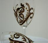Wedding Favor Wine Glasses by A Wincy Glass N' Design / Unique Wedding Favors dubbed favors with function because they serve as a place-setting, water glass, and guest giveaway at your wedding or special occasion.