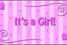 baby shower clip art for girls / baby shower clip art