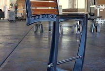 Muebles acero madera