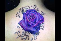 roze tattoo / Purple roze tattoo