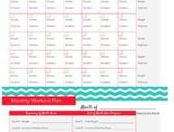 Workout schedules