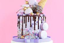 Dripped cake