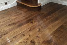 Steps for wood flooring