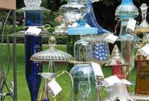 Vintage Glass Art / Creating art from vintage glass