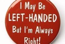 vänsterhänt