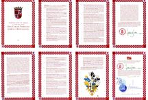 Certificates, grants of arms, register entries, and heraldic documents / Grants of arms, certificates of adopted coat of arms, entries in armorial registers, and other heraldic documents