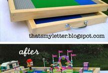 lego - playmobil / détournement et rangement