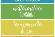Hand lettering & Fonts