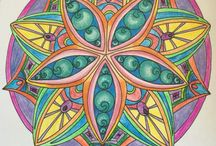 My adult colourings. Stress free. / Colouring for fun