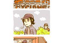 Steve, Bucky and Sam, T'Challa <3