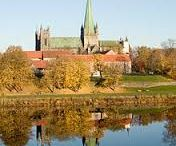 NIDAROS DOMEN CATHEDRAL THE POPE PLACE OF WORSHIP IN TRONDHEIM BY THE  RIVER  NID  NID AR OS
