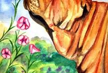Shar Pei Dog Fine Art / My artwork of the beautiful SharPei breed.