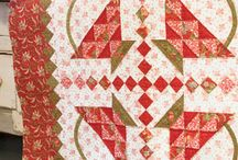 Red & Green / Antique Christmas quilts