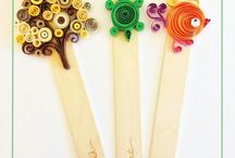Quilled book marks