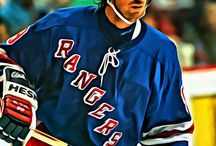 Hockey Legends / Paintings of famous hockey players