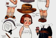 panenky z papíru / Kreslené oblékací