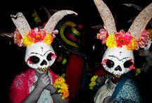Dia de los Muertos Conejos / Pasacalles del Complejo Conejo en la Open Blondie 2014. Dia de los Muertos.