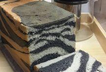 zebra pattern bread