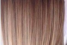 Halb lange Haare