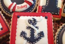 Nautical cake decorarions
