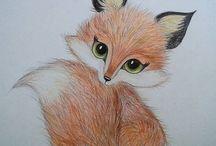 Животные рисунки карандашами