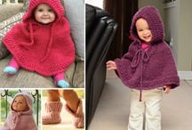 BREI HOODED BABY PONCHO