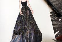 dibujos ilustracion vestidos