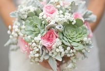 Dusty miller bouquets
