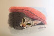 Animales domésticos. / Dibujos de animales domésticos.