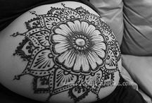 Pregnancy Henna / Prenatal Henna Designs / This is a board of ideas for pregnancy henna and prenatal henna designs for the baby belly of the mother-to-be