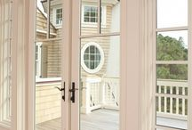 French doors   PVCu French Doors / Perhaps just as importantly they offer a grand entrance to that outside arena that adds value to your home and quality of life. By fitting PVC-U French doors you can maintain ease of maintenance, better security with modern hardware options and now the additional benefits of coloured PVC-U.
