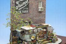 Diorama food truck