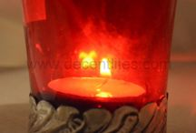 Candle Votive With Metal Fitting