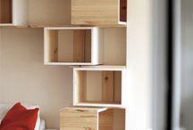 estanterías / Muebles compuestos y construcciones para almacenamiento,