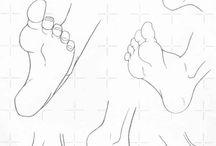 Teckna fötter