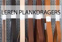 Leren plankdragers en handgrepen