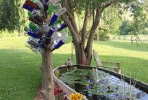 Sandal bahçe dekoru