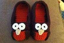 Pantoufles crochet / Slippers to crochet